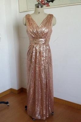 Gorgeous Sequined A-line Maternity Prom Dress UK Straps Sleeveless BO6869_3