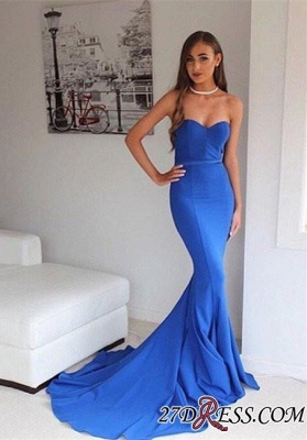 Sweetheart Mermaid Sweep-Train Floor-Length Sexy Prom Dress UK_1