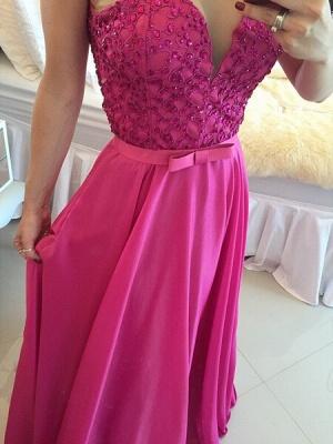 Luxury Sleeveless Evening Dress UK Beadings Sweetheart_2