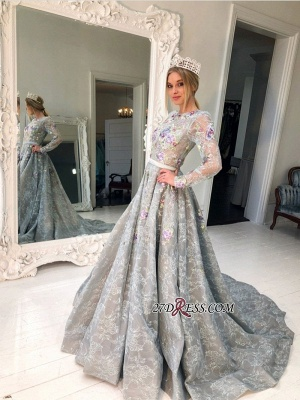 Long Sleeve Lace Evening Gowns | Princess Prom Dress UK_2