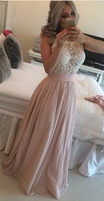 Gorgeous Scoop Sleeveless Pearls Evening Dress UK Long Chiffon BT0_1
