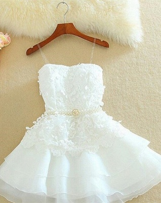 Lovely Sweetheart Mini Homecoming Dress UK Lace Appliques Layered_4