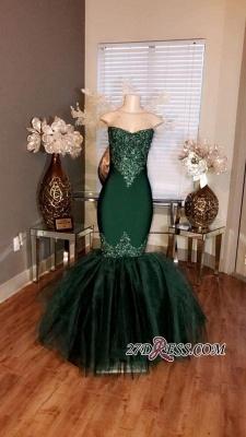 Sweetheart Mermaid Long Prom Appliques Tulle Dress UKes UK Sleeveless cc0014_3