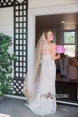 Sleeveless Sweetheart Long Delicate Zipper Lace Sexy Mermaid Wedding Dress_2