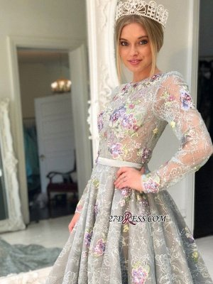 Long Sleeve Lace Evening Gowns | Princess Prom Dress UK_1
