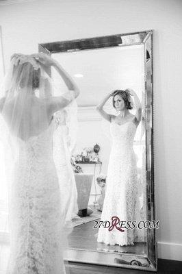 Sleeveless Sweetheart Long Delicate Zipper Lace Sexy Mermaid Wedding Dress_4