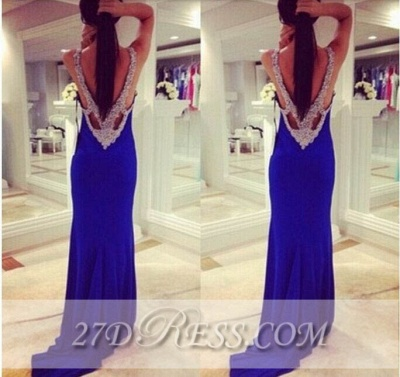Elegant Sexy Long Corset Prom Dress UKes UK Applique Mermaid Party Gowns with Beadings_2