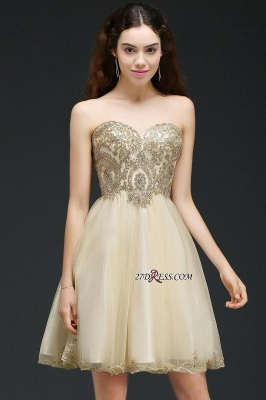 Lovely Sweetheart Short Appliques Lace-Up Homecoming Dress UK_7