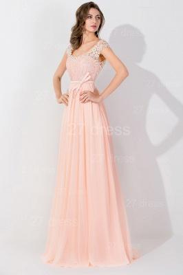 Modern Off-the-shoulder Chiffon Bowknot Evening Dress UK Appliques Floor-length_2