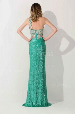 Luxury One Shoulder Sequins Prom Dress UK With Beadings_4