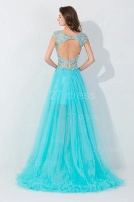 Newest Lace Appliques Hi-Lo Evening Dress UK Sweep Train_4