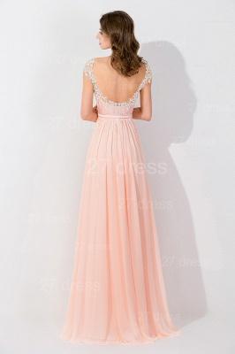 Modern Off-the-shoulder Chiffon Bowknot Evening Dress UK Appliques Floor-length_3