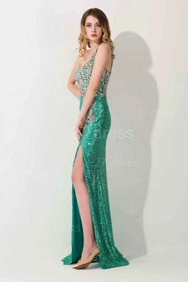 Luxury One Shoulder Sequins Prom Dress UK With Beadings_2