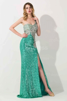 Luxury One Shoulder Sequins Prom Dress UK With Beadings_3