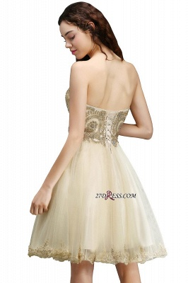 Lovely Sweetheart Short Appliques Lace-Up Homecoming Dress UK_4