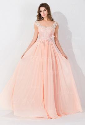 Modern Off-the-shoulder Chiffon Bowknot Evening Dress UK Appliques Floor-length_4