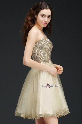 Lovely Sweetheart Short Appliques Lace-Up Homecoming Dress UK_5