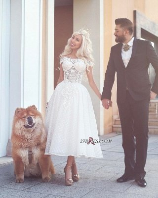 Ball-Gown Off-the-Shoulder White Wedding Dress_2