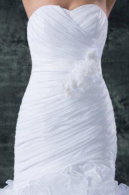 Hot New Wedding Dresses UK Sale Elegent Sweetheart Ruffles Organza Sash Hand Made Flower Beads Sexy Mermaid_3