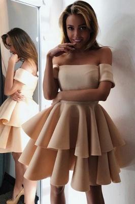 Luxury Short-Sleeve 2019 Homecoming Dress UK | Layers Mini Party Dress UK On Sale_1