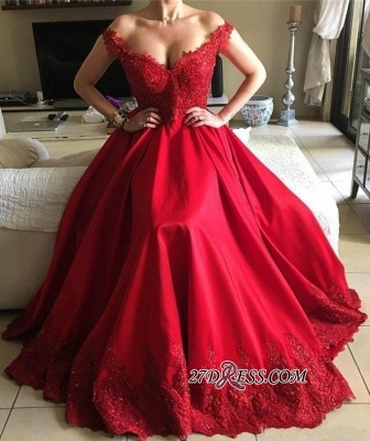 Off-the-Shoulder Red Prom Dress UKes UK | Lace Evening Gowns BA9340_3