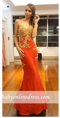 Elegant Sleeveless Pearls Lace-Appliques Mermaid Evening Gown_2