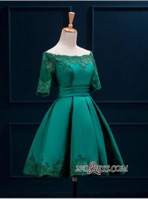 Lace Green Short Appliques Charming Half-Sleeve Homecoming Dress UK BA3856_6