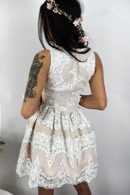 Lovely Lace Homecoming Dress UK Short Sleeveless Party Dress UK On Sale_3
