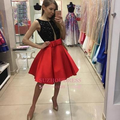 Sequined Bowknot A-Line Sexy Sleeveless Short Homecoming Dress UKes UK_1