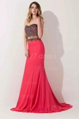 Stunning Sweetheart Mermaid Prom Dress UK With Beadings_2