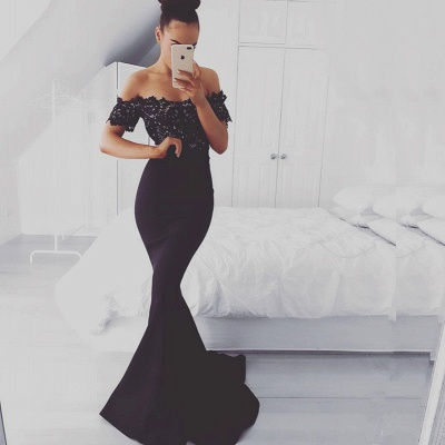 Luxury Off-the-Shoulder Lace Appliques Evening Dress UK Mermaid Long Party Dress UK BA7560_3