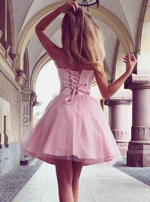 Sweetheart Pink Homecoming Dress UKes UK | A-Line Sleeveless Cocktail Dress UKes UK_3