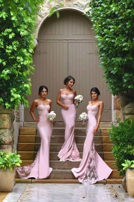 Fabulous Spaghetti Strap Bridesmaid Dress UKes UK Mermaid Lace_2