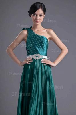 Modern One Shoulder Ruffles Evening Dress UK Floor-length Zipper_2