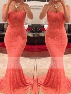 Mermaid Sweetheart Evening Dress UKes UK Sleeveless Sweep Train Party Gowns_1