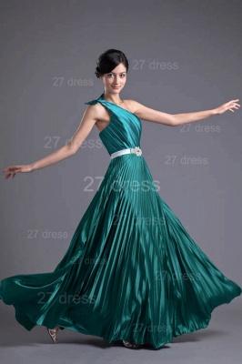 Modern One Shoulder Ruffles Evening Dress UK Floor-length Zipper_5