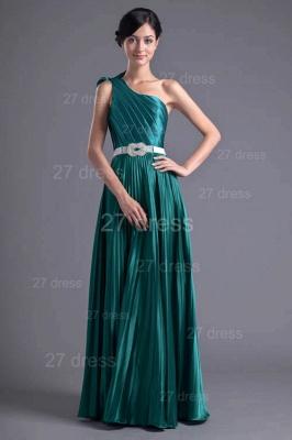 Modern One Shoulder Ruffles Evening Dress UK Floor-length Zipper_1