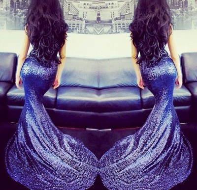 Elegant Sweetheart Sleeveless Mermaid Prom Dress UK With Sequins_4