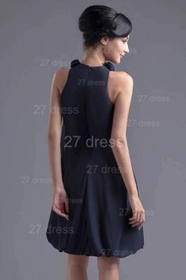 Elegant Flowers Short Cocktail Dress UK Zipper High Quality_5