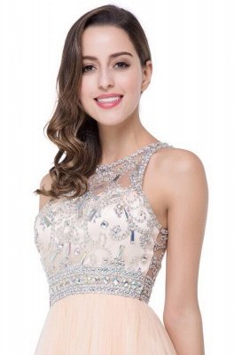 Sexy Beadings Crystal Short Prom Dress UK Chiffon Homecoming Gown_6