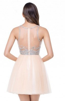 Sexy Beadings Crystal Short Prom Dress UK Chiffon Homecoming Gown_7