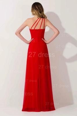 Elegant Chiffon A-line Chiffon Evening Dress UK One Shoulder Crystals_2