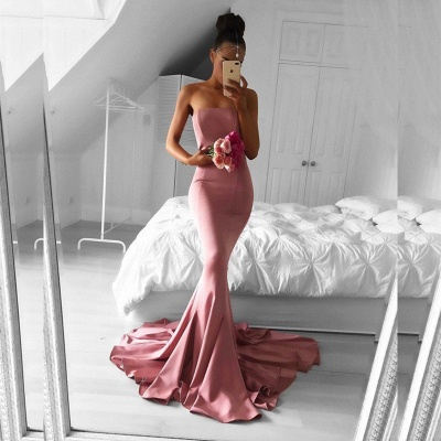Sexy Strapless Mermaid Formal Dress UK Long Prom Dress UK for Party_3