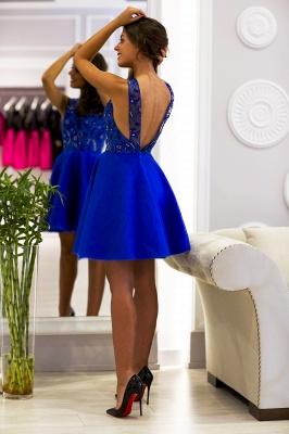 Delicate Royal Blue Mini Homecoming Dress UK Straps Sleeveless_3