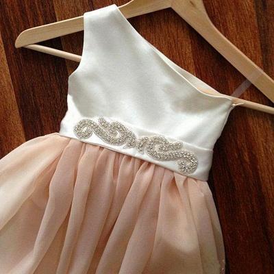 Lovely Cap Sleeve Tulle Princess Flower Girl Dress Bowknot_3