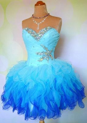 Lovely Sweetheart Sleeveless Short Homecoming Dress UK With Ruffles Beadings BA7709_2
