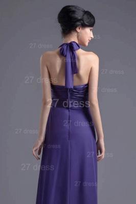 Sexy A-line Chiffon Halter Evening Dress UK Zipper Floor-length_5