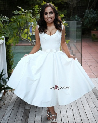 Sexy White Sleeveless Prom Dress UK | A-Line Short Evening Party Gowns_1