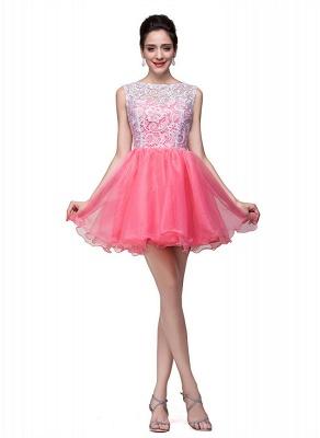 Lovely Sleeveless Lace Homecoming Dress UK Short_5