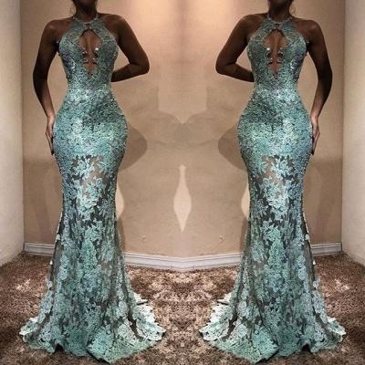 Elegant Lace Prom Dress UK | Halter Mermaid Evening Gowns BA7714_3